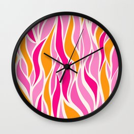 Go with the Flow in Pink Wall Clock