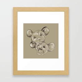 Two Sides to Every Possum Framed Art Print