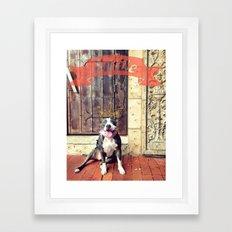 Pitbull Smile Framed Art Print