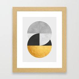 Golden Geometric Art IX Framed Art Print