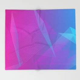 Illusion colors blue Throw Blanket
