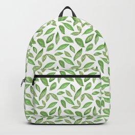 Watercolor Spring Leaves Backpack