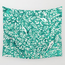 Wonderlust Τurquoise#Birds let's run away Wall Tapestry