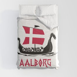 Aalborg  TShirt Denmark Flag Shirt Danish City Gift Idea Comforters