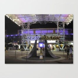 Test Track at Night Canvas Print