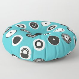 Circles Turquoise Floor Pillow