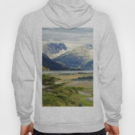 Alaskan Fairytale Landscape Scenic Mountains & Valley Hoody