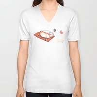 sport V-neck T-shirts featuring Sport Injuries by Zachary Huang