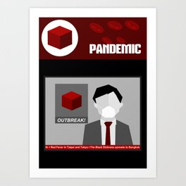 Pandemic - Red Art Print