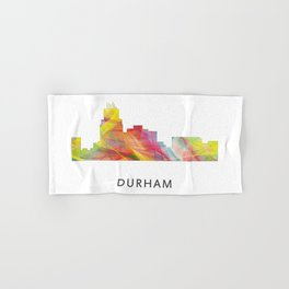 Durham North Carolina Skyline Hand & Bath Towel