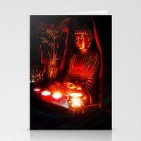 meditation Stationery Cards featuring Meditation by Christine Belanger