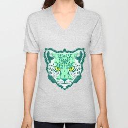 Emerald Leopard  Unisex V-Neck
