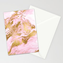 Rose Gold Mermaid Marble Stationery Cards
