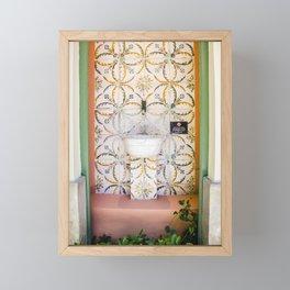 Decorated public faucet in Palma de Mallorca Framed Mini Art Print