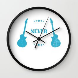 Electric Guitar Music Teacher Acoustic Classical Wall Clock
