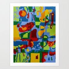 Geometric Garden Art Print