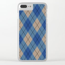 Christmas Sweater Winter Colors Clear iPhone Case