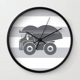 Grey on Grey Dump Truck Wall Clock