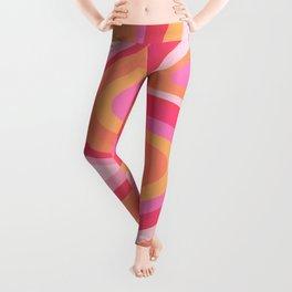 Sunshine Melt – Pink & Peach Palette Leggings