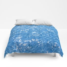 Poolside / Photo of sparkling blue water in bright sunlight Comforters