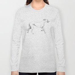Greyhound Ink Drawing Long Sleeve T-shirt