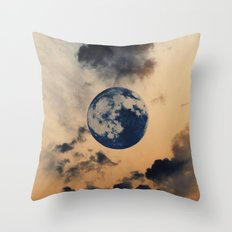 Moon Clouds Throw Pillow