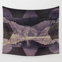 sacred geometry Wall Tapestries featuring Sacred by Jemma Pope
