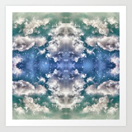 Cloudy Blues Art Print