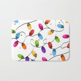 New year background design. Colorful Christmas light bulb Bath Mat