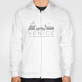 Linear Venice Skyline Design Hoody