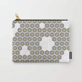Hexagon Pattern Carry-All Pouch