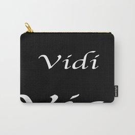 Veni Vidi Vici Black Carry-All Pouch