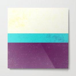 Textured Purple, Blue, White Metal Print