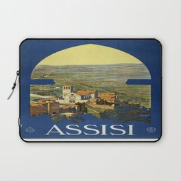 Vintage poster - Assisi Laptop Sleeve