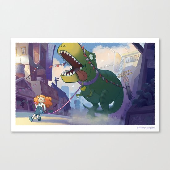 Bring Your Pet to School Day Canvas Print