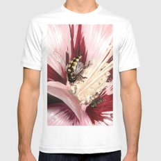 Wasp on flower 7 White MEDIUM Mens Fitted Tee
