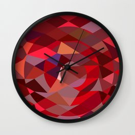 Rising Sun Abstract Low Polygon Background Wall Clock
