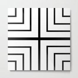 Square - Black and White Metal Print