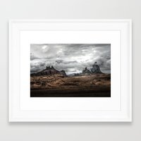 middle earth Framed Art Prints featuring Middle Earth by Kent Moody