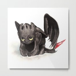 Toothless is cute! Metal Print