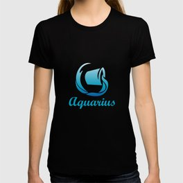 Aquarius Air Sign Graphic Zodiac Birthday Gift Idea Horoscope Design T-shirt