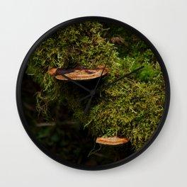 Wood Mushroom Wall Clock