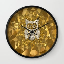 POLYNOID Owl / Gold Edition Wall Clock