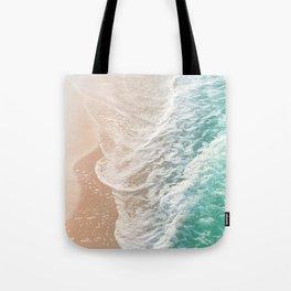 Soft Emerald Beige Ocean Dream Waves #1 #water #decor #art #society6 Tote Bag