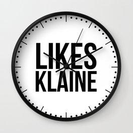 Likes Klaine Wall Clock