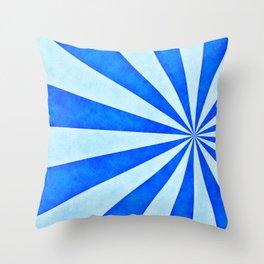 Blue sunburst Throw Pillow
