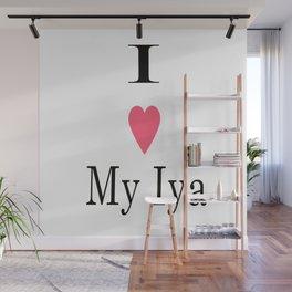I Heart My Iya Wall Mural