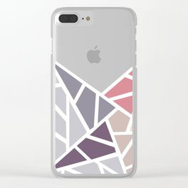 Contemporary Mosaic Star Design Clear iPhone Case