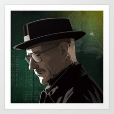 Breaking Bad Illustrated - Walter White Art Print