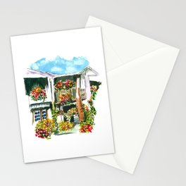 Flowers on the Balcony Stationery Cards